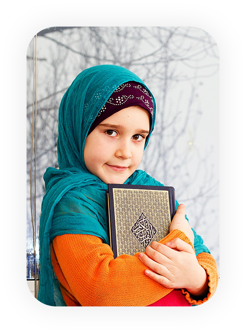 cute girl learning quran